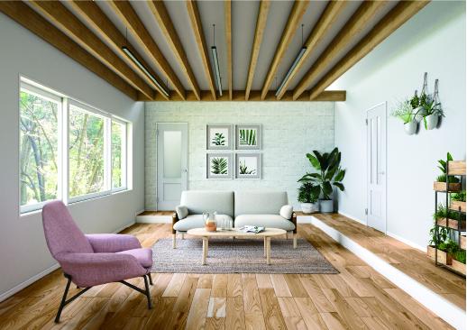 シルクのように繊細で高級感のあるホワイトは、<br>素朴でナチュラルな空間に華やかな心地よさを添えてくれます。
